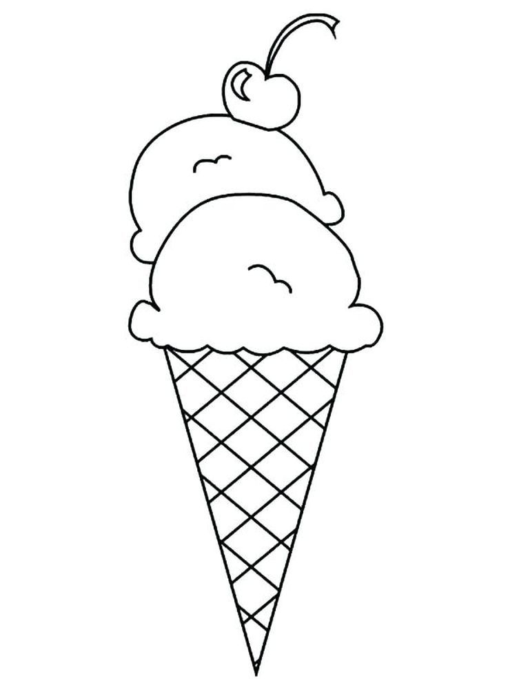 Ice Cream Shop Coloring Pages Below Is A Collection Of Easy Ice Cream Coloring Page Which Ice Cream Coloring Pages Free Coloring Pages Ice Cream Cone Drawing