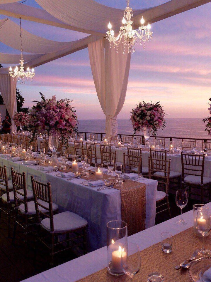 Outside And Oceanside Reception Wedding Venue Decorations Wedding Decorations Venue Decorations