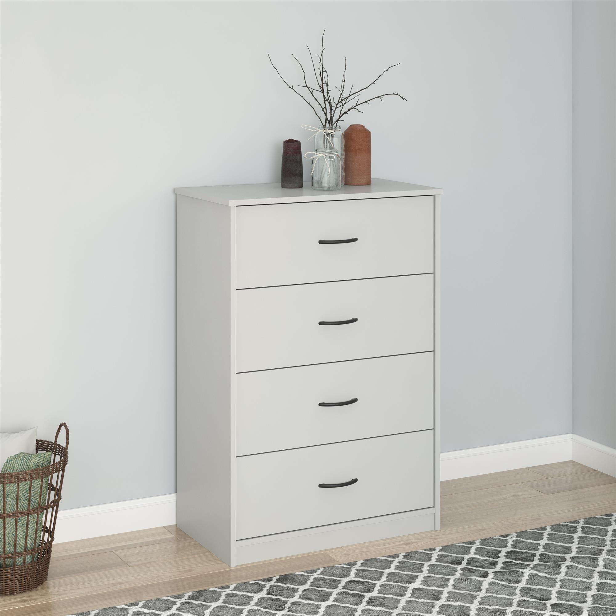 Mainstays Classic 4 Drawer Dresser Espresso Finish Walmart Com Modern Bedroom Storage Storage Furniture Bedroom Modern Dresser