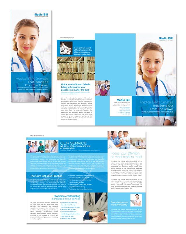 Medical Billing Services Tri Fold Brochure TemplatehttpWww