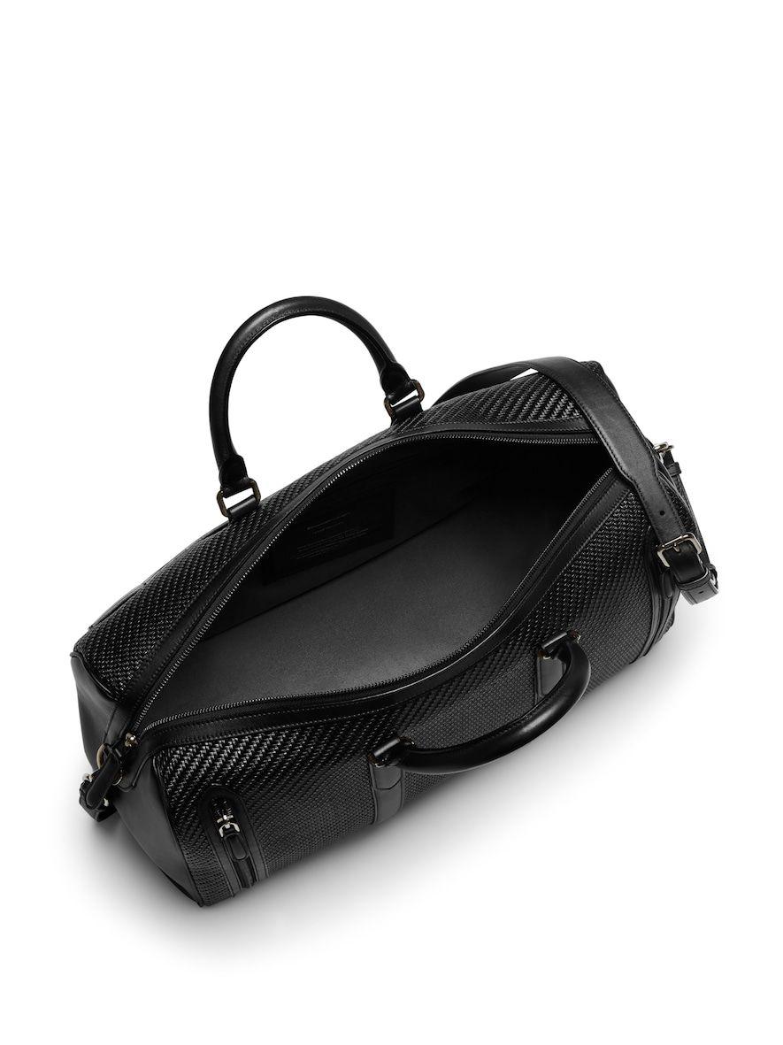 ff5b68cba7 Black Pelle Tessuta Holdall | Luggage | Bags, Travel bags, Black