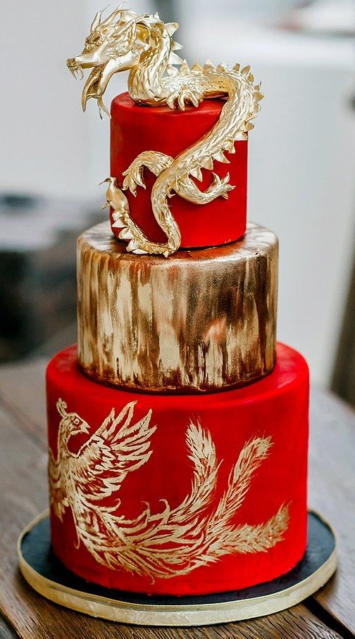 traditional chinese wedding cake recipe and gold wedding cake by bifield 21128