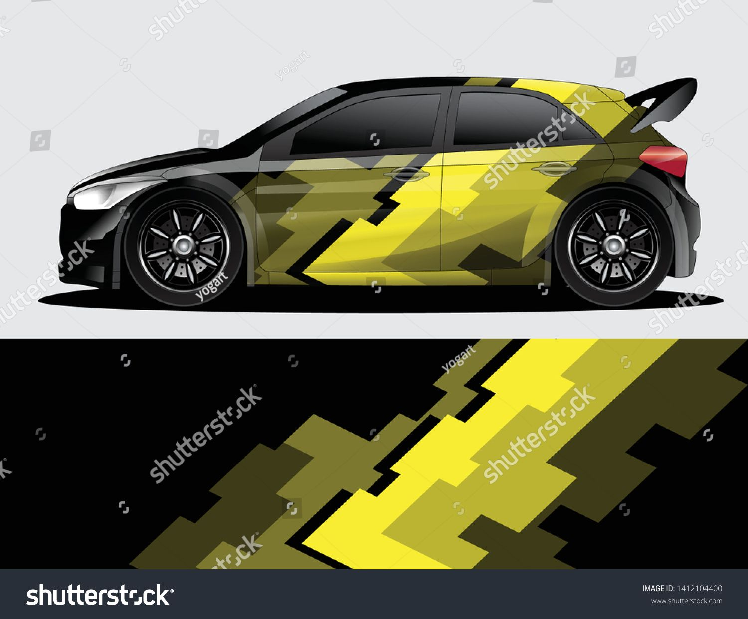 Rally Car Decal Graphic Wrap Vector Abstract Background Mobil Impian Mobil Stiker [ 1242 x 1500 Pixel ]