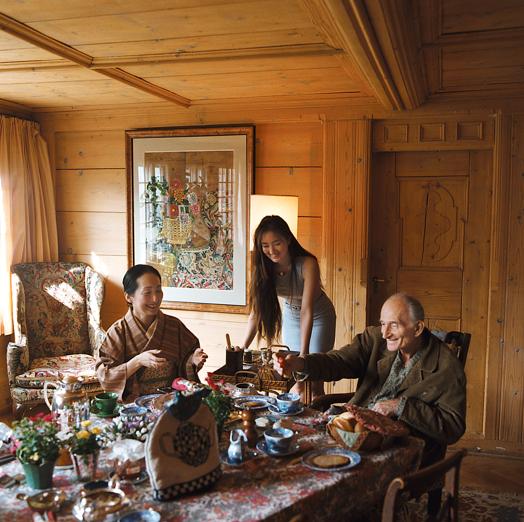 Chalet Balthus Cristopher Worthland Interiors Famous Artists Artist At Work Artist Studio