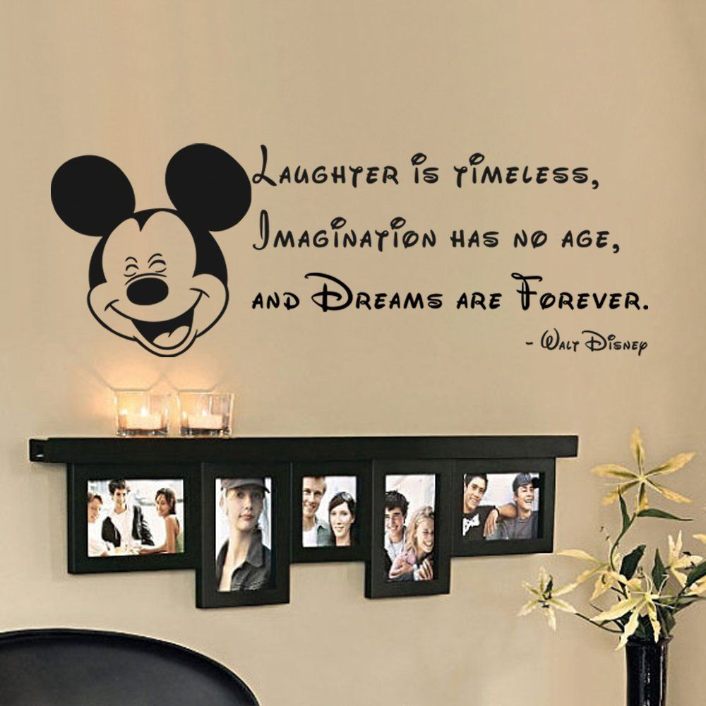Laughter Is Timeless Imagination Has No Age Tinkerball Quote Vinyl Wall Decal