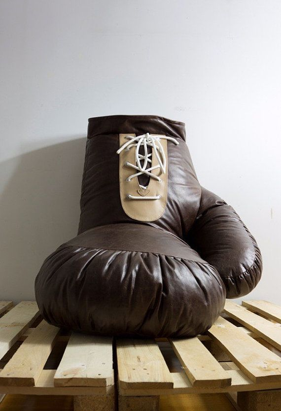 Vintage Look Leather Boxing Glove Chair Bean bag