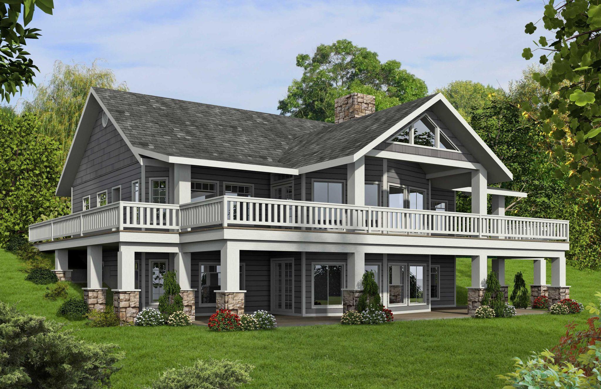 Open Floor House Plans With Walkout Basement Basement House Plans Mountain House Plans Ranch Style House Plans