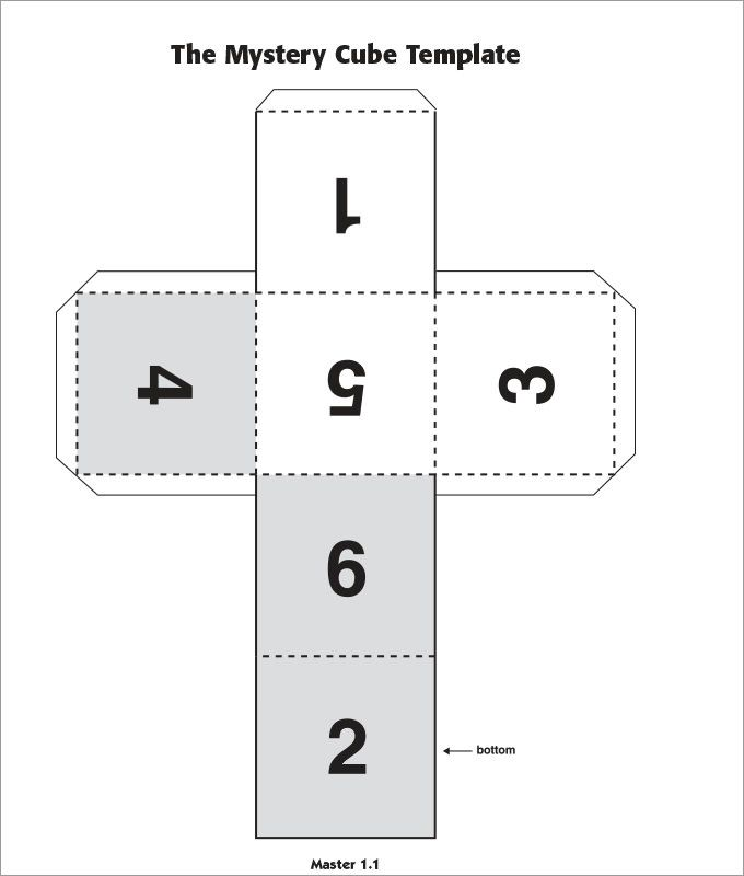 Paper Cube Template  How To    Patterns