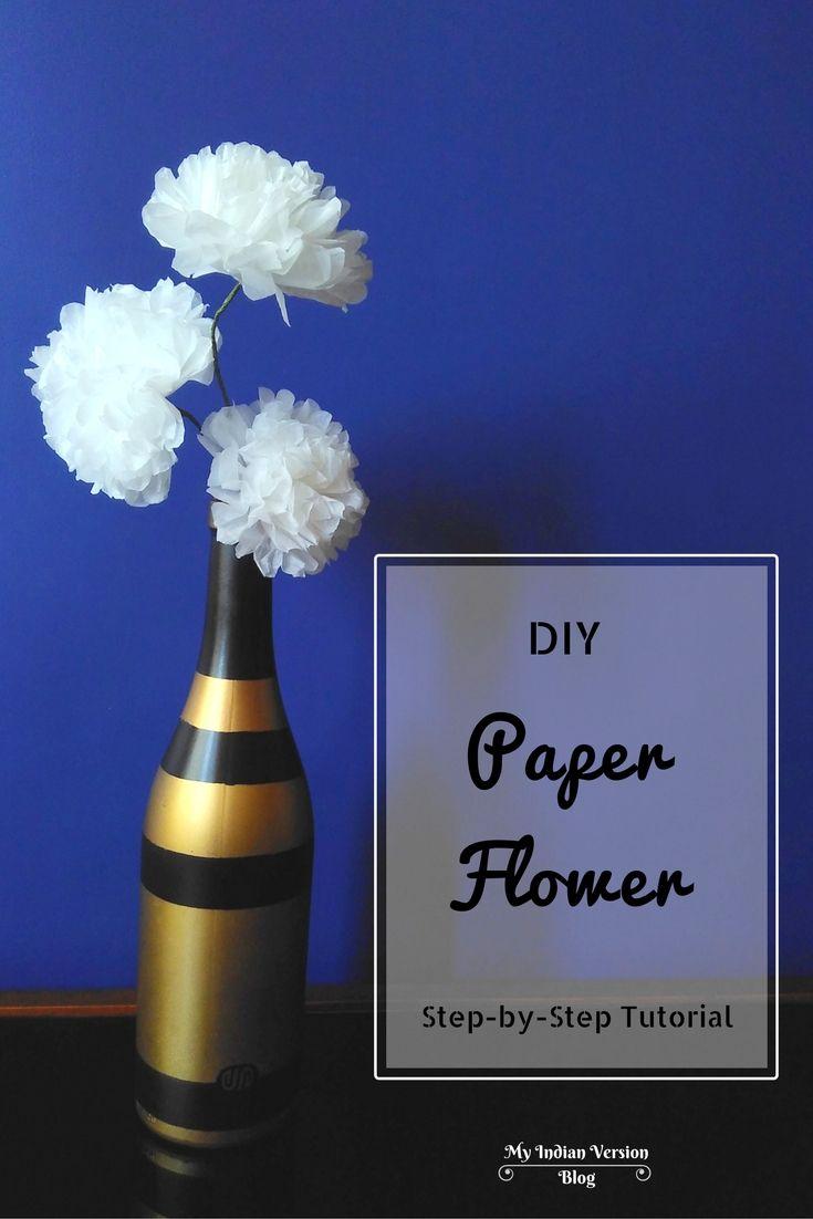 Diy Paper Flower Step By Step Tutorial Diwali Decoration