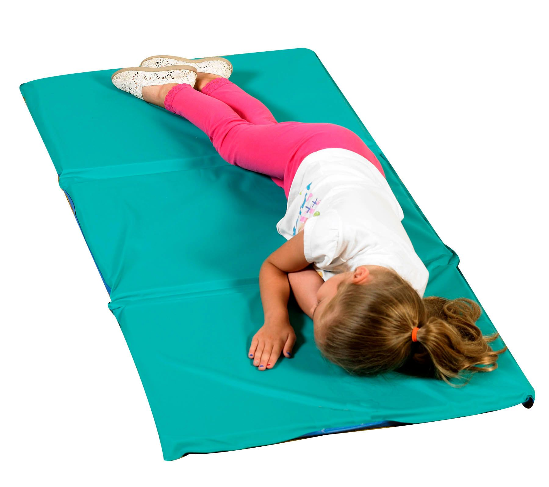 Angels Rest Nap Mat 1 Teal Blue 3 Section Folding Mat 10 Pack Children S Factory Nap Mat Infection Control Folding Mat