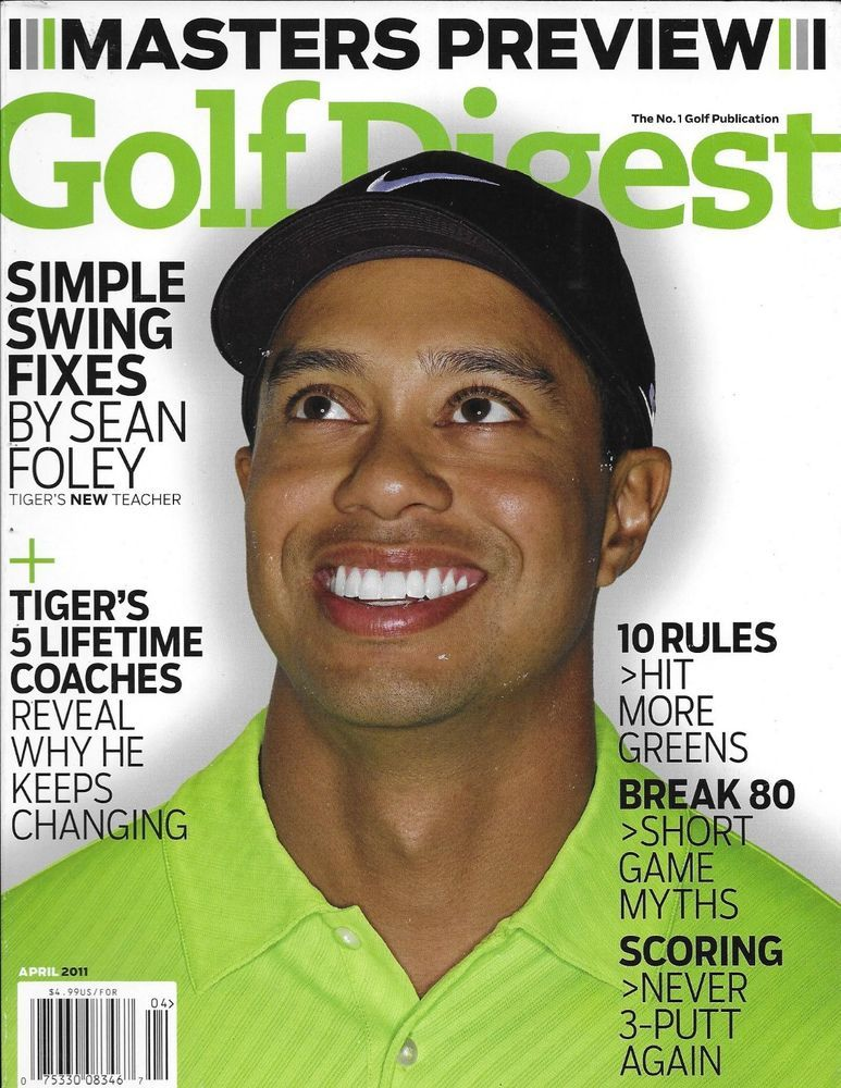 Golf Digest Magazine Tiger Woods Masters Preview Simple