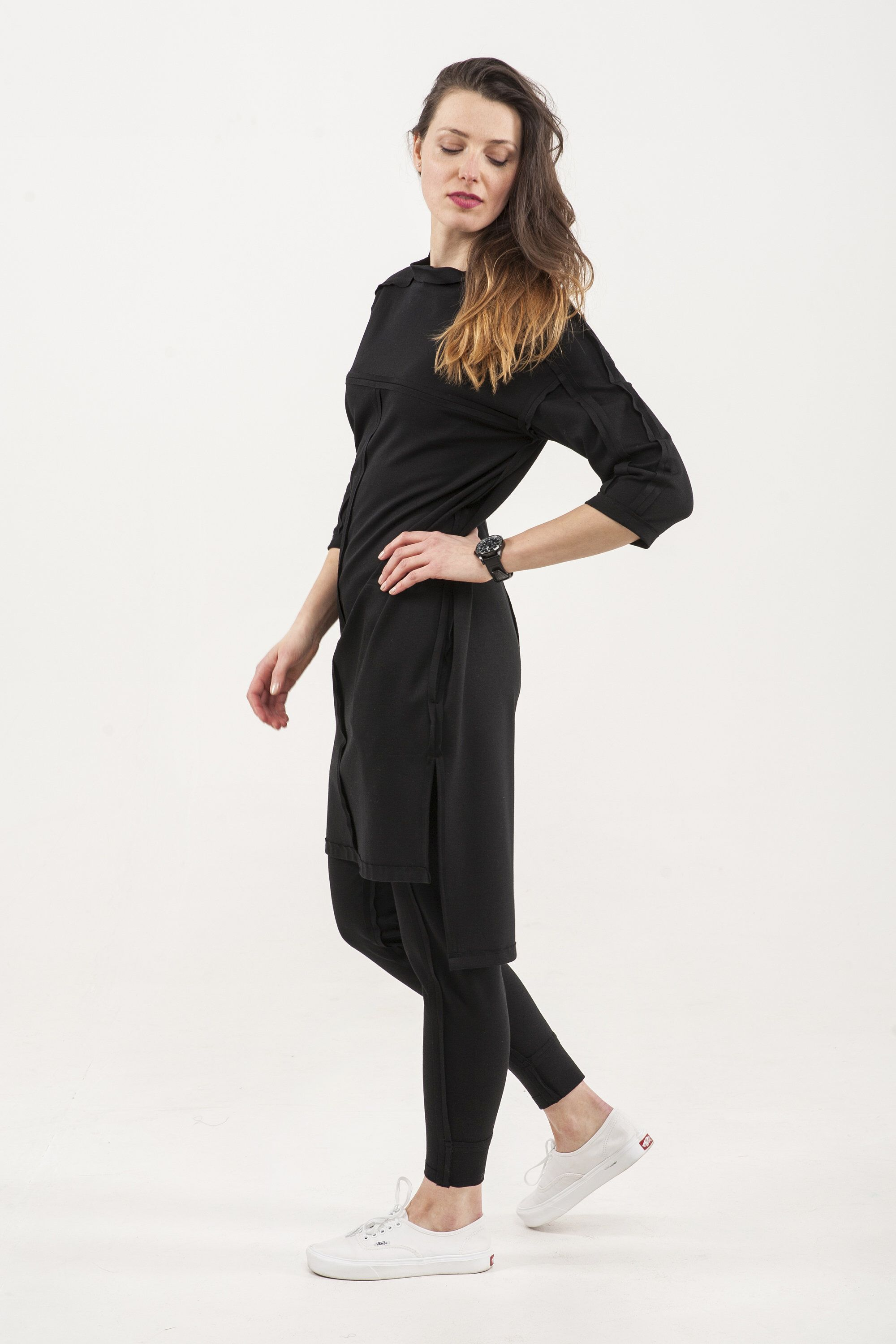 Simple jersey outfit jersey tunic and pants little black dress