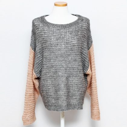 Twotone sweater - What's new Style by Marina