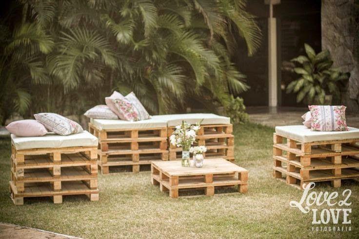 10 ideas para reciclar palets para bodas   Ideas para reciclar ...