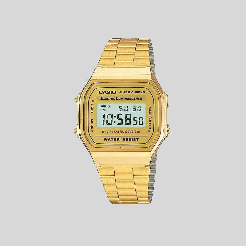 997aea5d015 Relógio Casio Retro Alarm Chrono Dourado