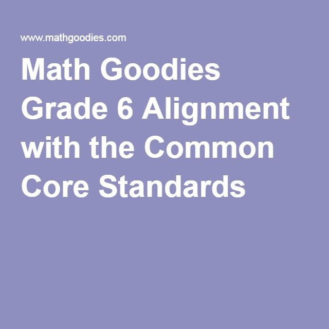 math worksheet : math goodies grade 6 alignment with the common core standards  : Mathgoodies