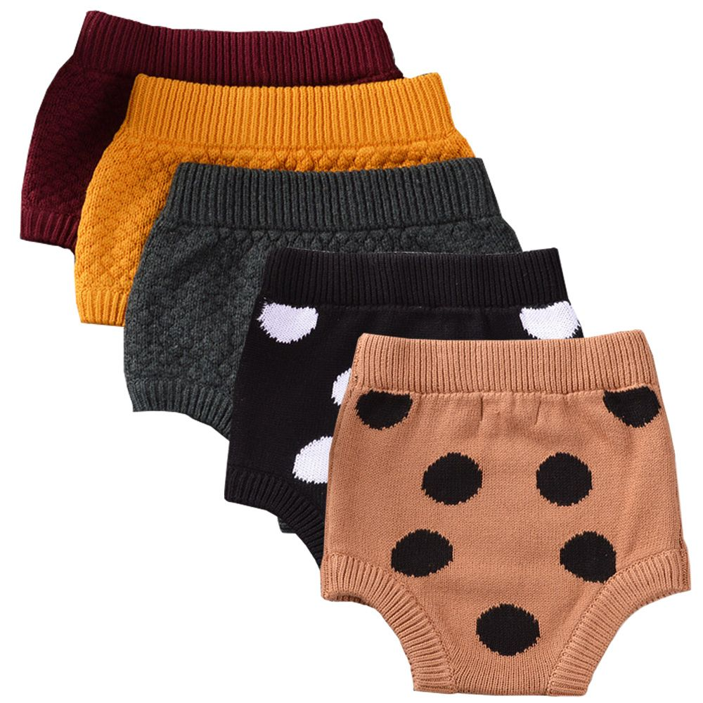 Amazing Infant Baby Girl Knitted Bloomers, Polka Dots Shorts, Baby Girl Knitwear, Baby Bottoms, Baby Girl Pants。