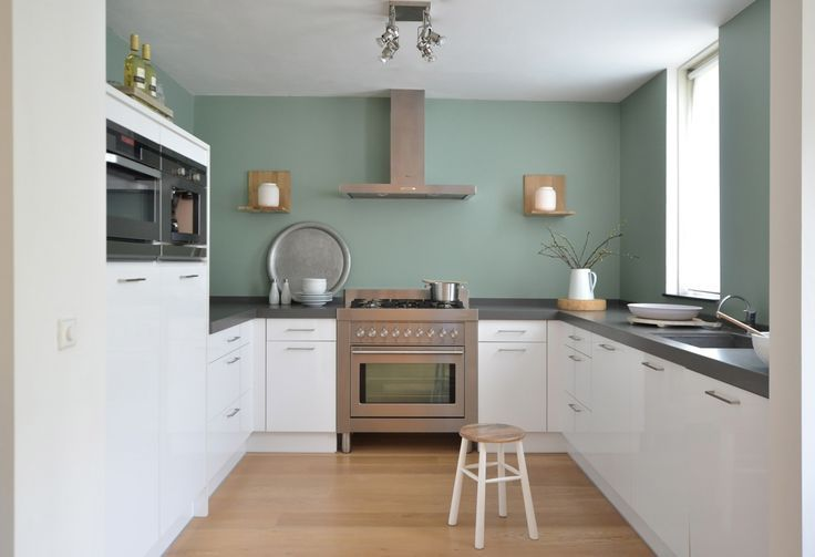 Hoogglans wit keuken leemgroen google zoeken leemgroen pinterest keuken zoeken en google - Binnenkleuren met witte muur ...