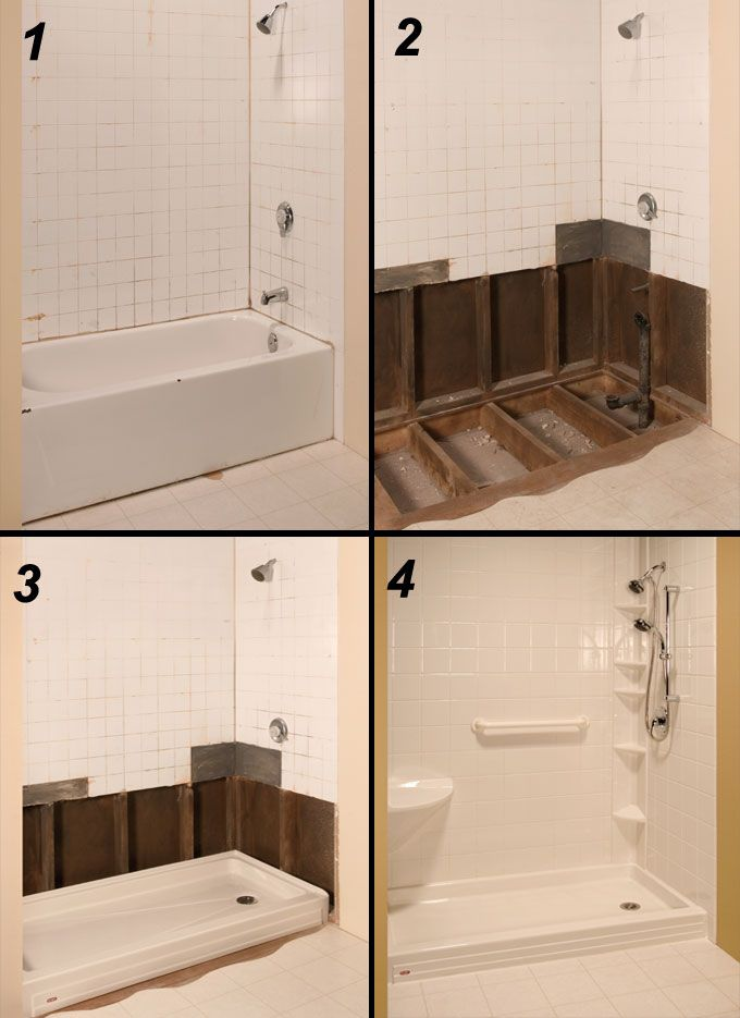 Corner Tub Shower Conversions Google Search Bathroom