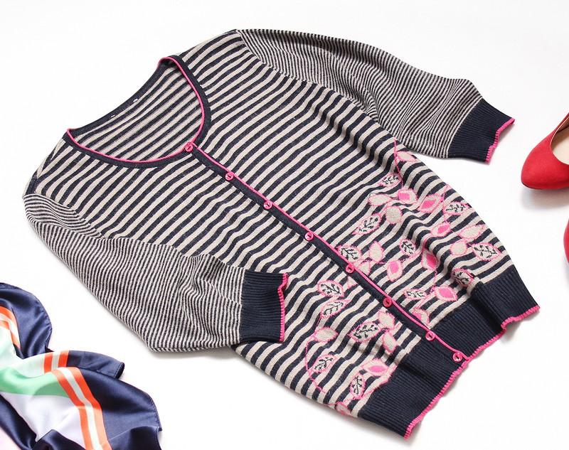 Marks Spencer Per Una Zapinany Sweter W Paski Z Welna Rozowe Guziczki I Wzor 42 44 Xl Xxl Vinted Mens Tops Fashion Shirt Dress