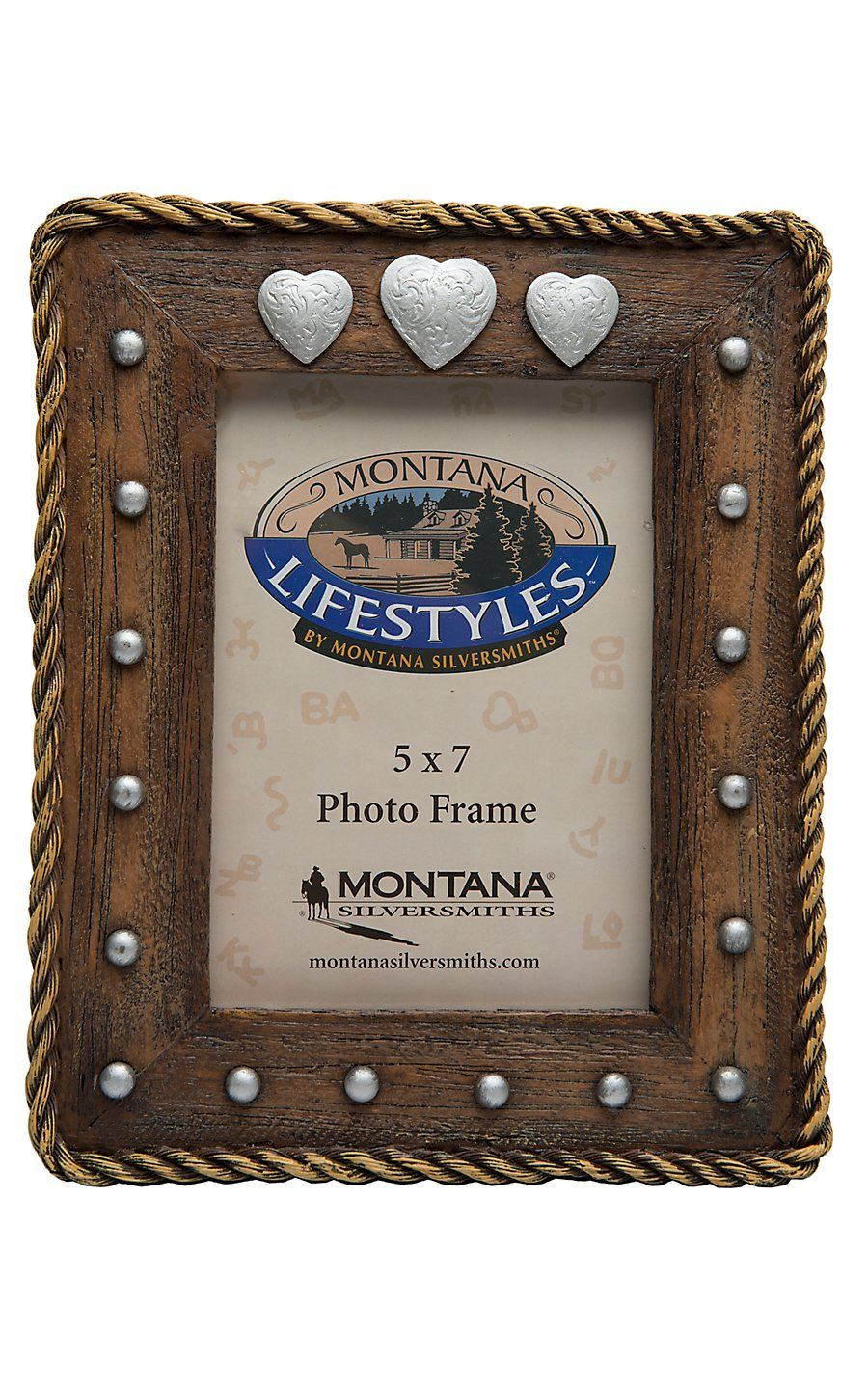 Montana Silversmiths Concho Hearts 5x7 Picture Frame 5x7
