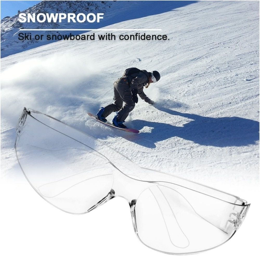 Safety Potective Black Goggles Glasses For AntiUV