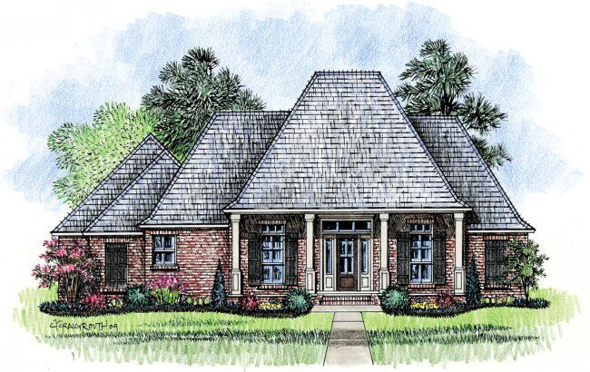 Gardere louisiana house plans acadian house plans my for Louisiana acadian house plans