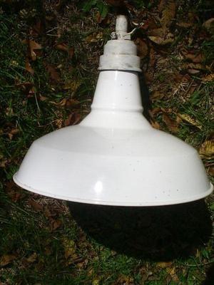 Metal White Porcelain Light Fixture