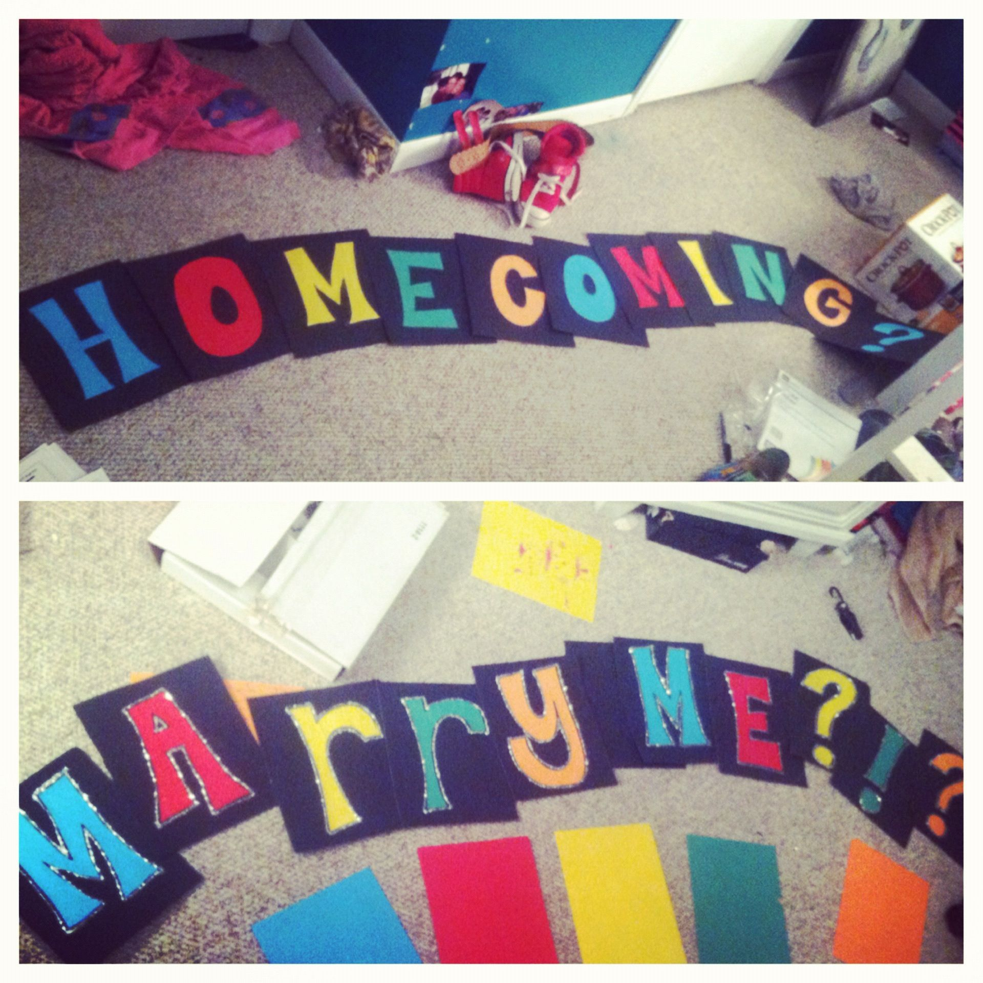Cute ideas to ask a boy to sadie hawkins - Cute Homecoming Proposal Flipped Into Marriage Proposal