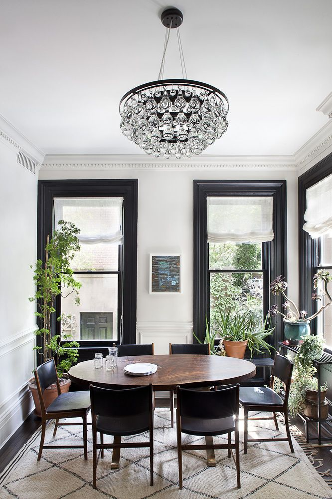 I M Currently Working On One Of My Favorite Homes I Have Ever Worked On Its So Uniquely Shap Black And White Dining Room White Dining Room Dining Room Design