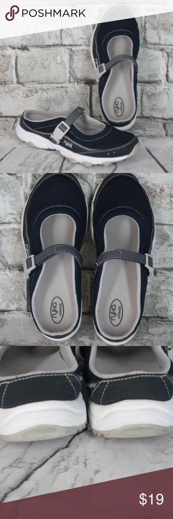 ryka Nitracel Navy Blue Slip On Shoes