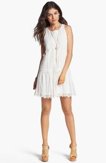 Fire Drop Waist Lace Dress (Juniors)
