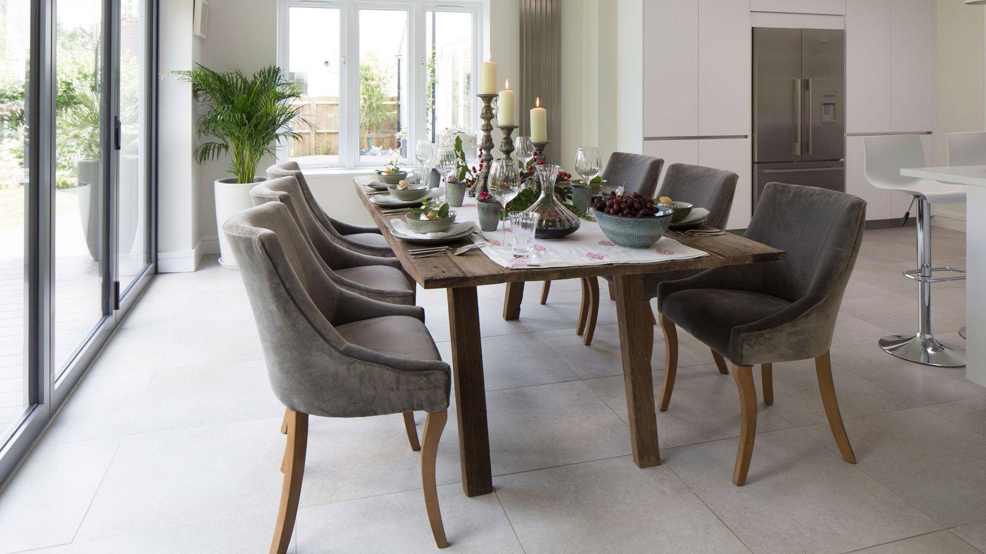 grey modern dining room with velvet chairs d i n e traditional rh pinterest com