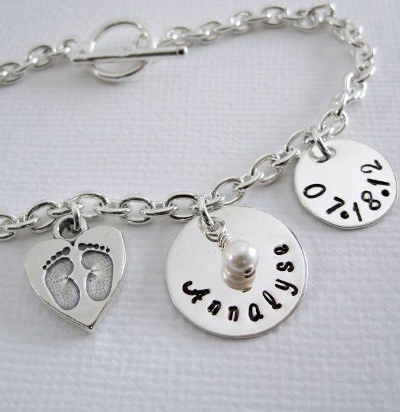 new baby new mom personalized bracelet name and. Black Bedroom Furniture Sets. Home Design Ideas