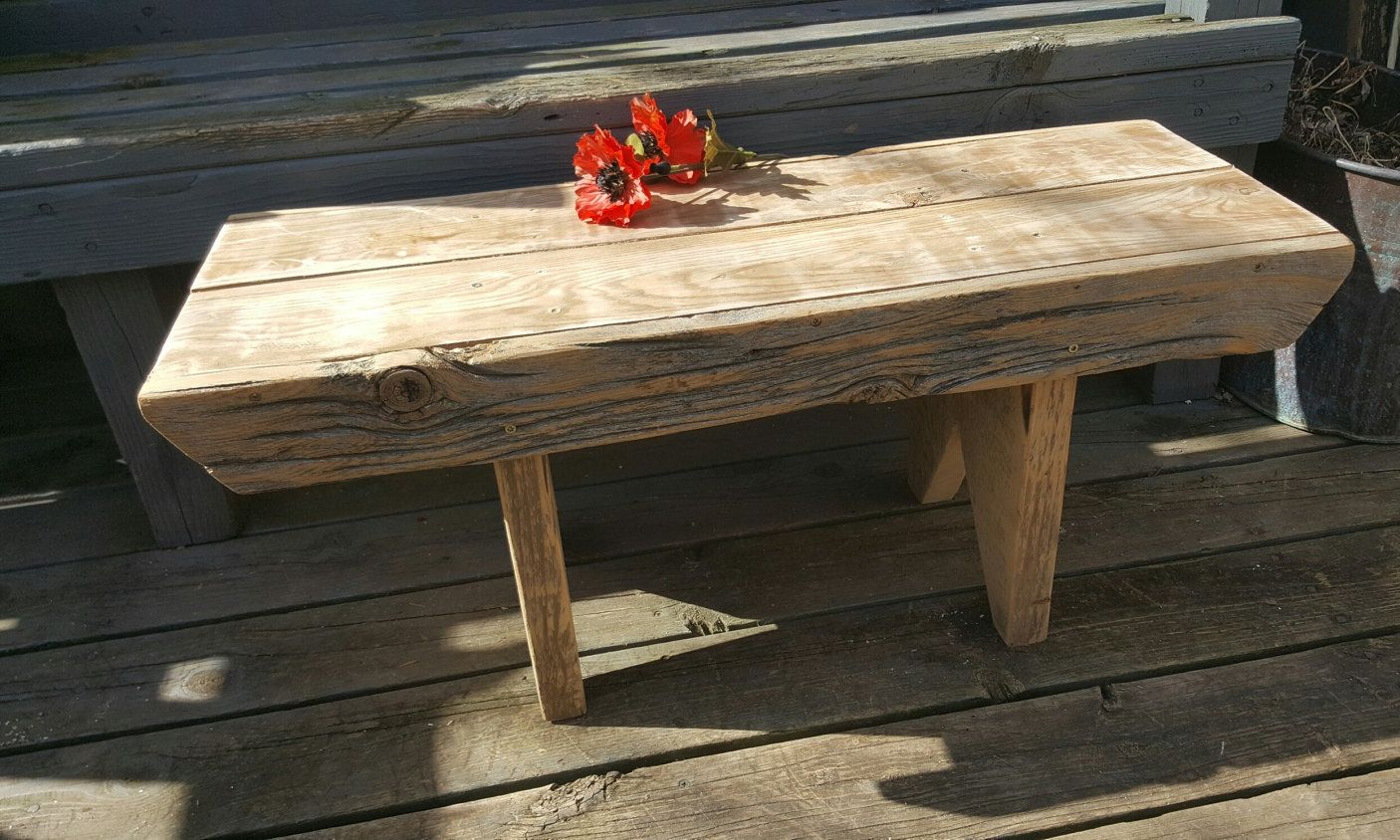 Primitive decor furniture - Farmhouse Antique Bench Barn Wood Porch Handmade Primitive Decor Furniture Bedroom Entryway Dining Distressed Bench Outdoor Patio 40