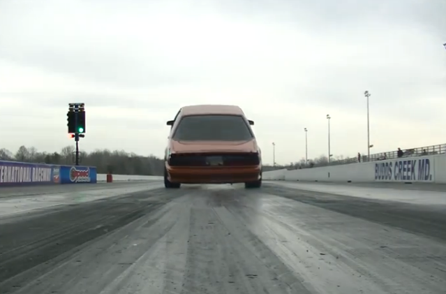 Watch This Stick Shift, Small Tire Fox Body Mustang Drag Bumper And