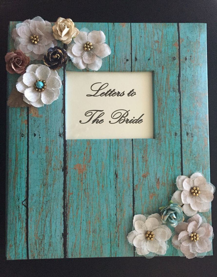 I made this Letters to the Bride scrapbook for Amber, the