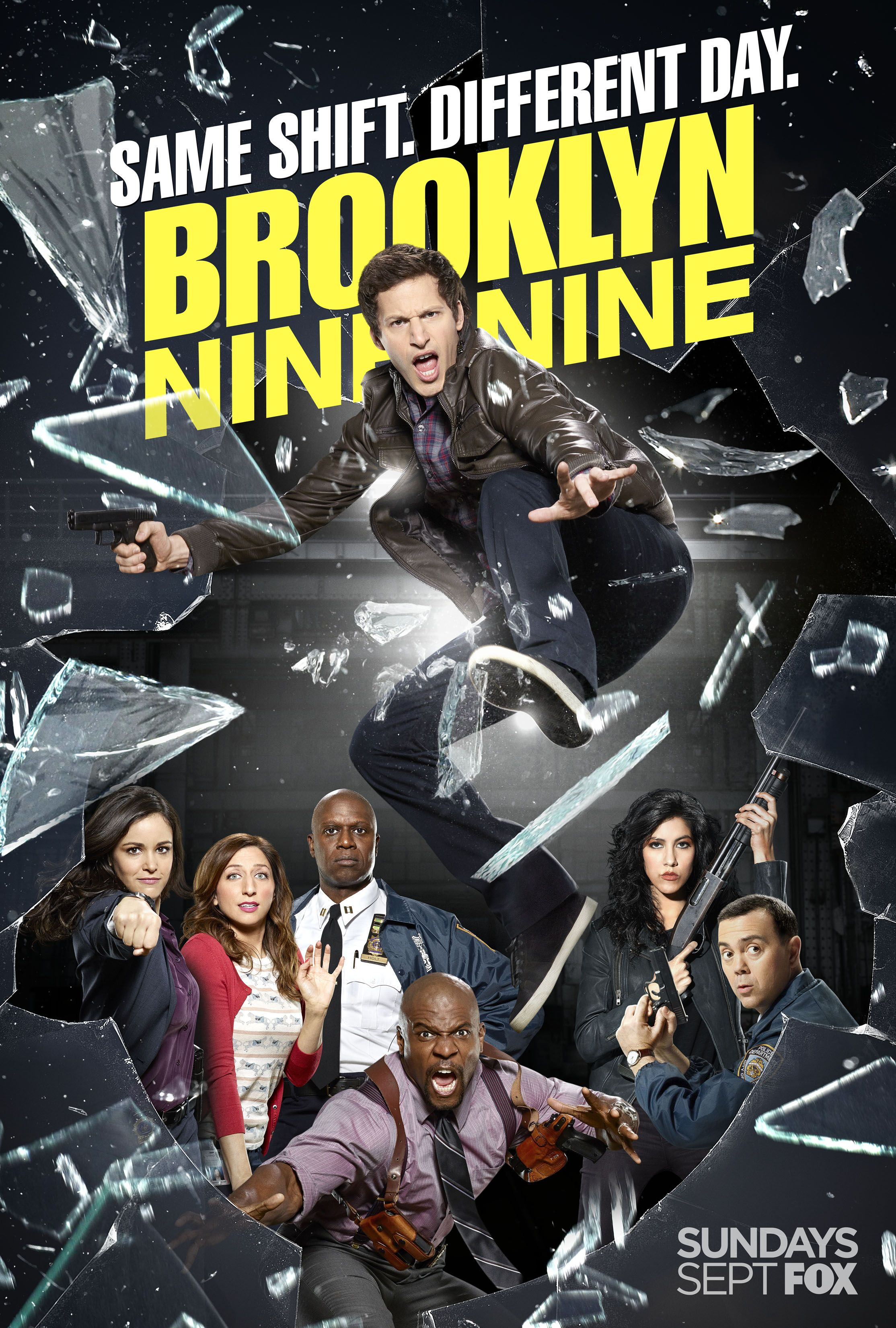 Nine Different Ways You Can Put Your Goals In Writing: Brooklyn Nine-Nine Season 2 Poster Promises Same Shift On