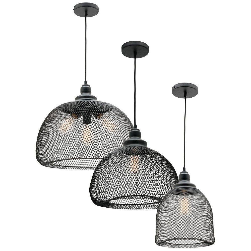 L2 1529 mercator dustin black wire mesh pendant light range inspiration pinterest wire - Cool kitchen pendant lights ...