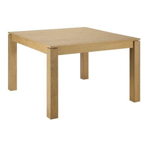 Quadratischer ausziehbarer Esstisch 4 bis 8 Personen aus