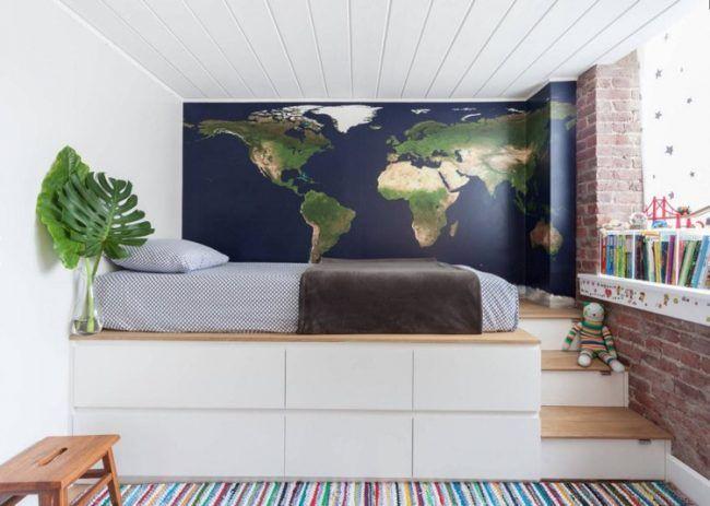 Podestbett bauen - Praktische Lösung fürs moderne Schlafzimmer ...