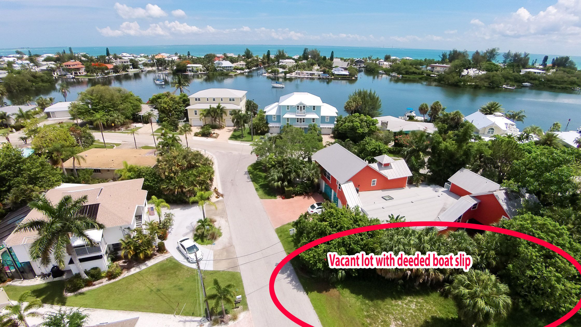 Vacant lot with deeded boat slip build your own dream home here on anna maria island live the florida life call me 941 232 2216
