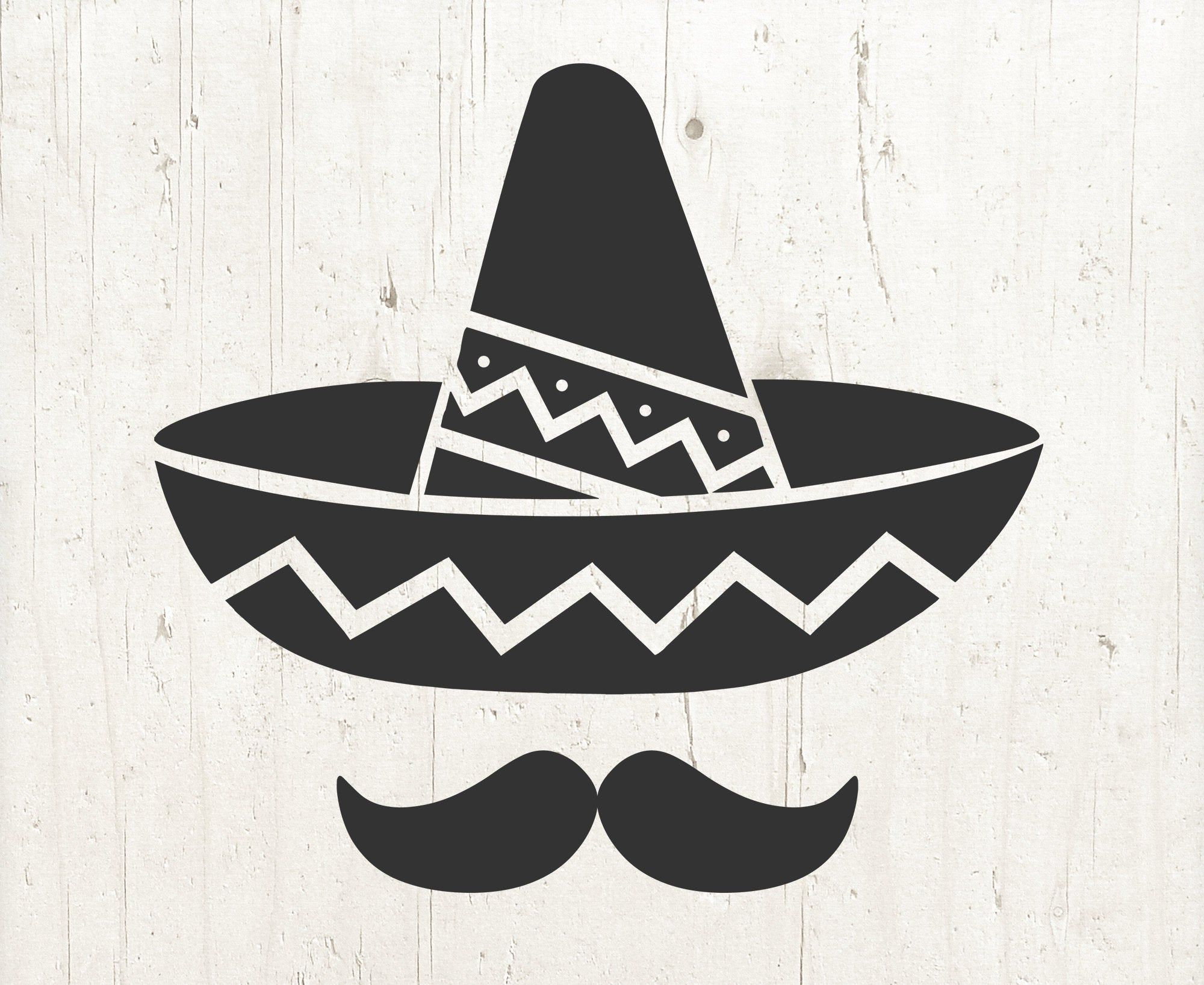 Sombrero Svg Mustache Svg Cinco De Mayo Svg Sombrero Cinco Etsy In 2021 Mexican Hat Svg Cricut Crafts