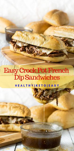 Easy Crock Pot French Dip Sandwiches keto recipes crock pot