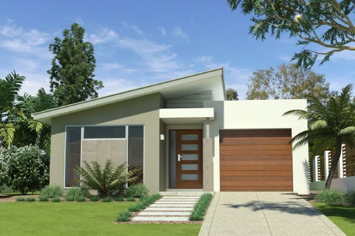 Northgate with skillion roof and alfresco house and land for Skillion roof house plans