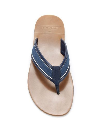4ab4acb2dbfb83 CLASSIC SANDAL - Sandals - Man - Shoes - ZARA United Kingdom ...