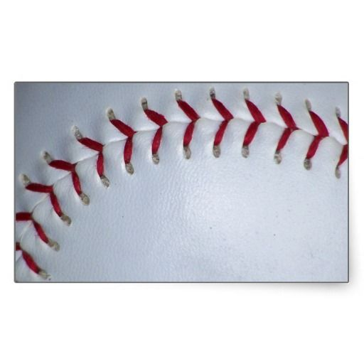 Baseball Stitches Rectangle Sticker