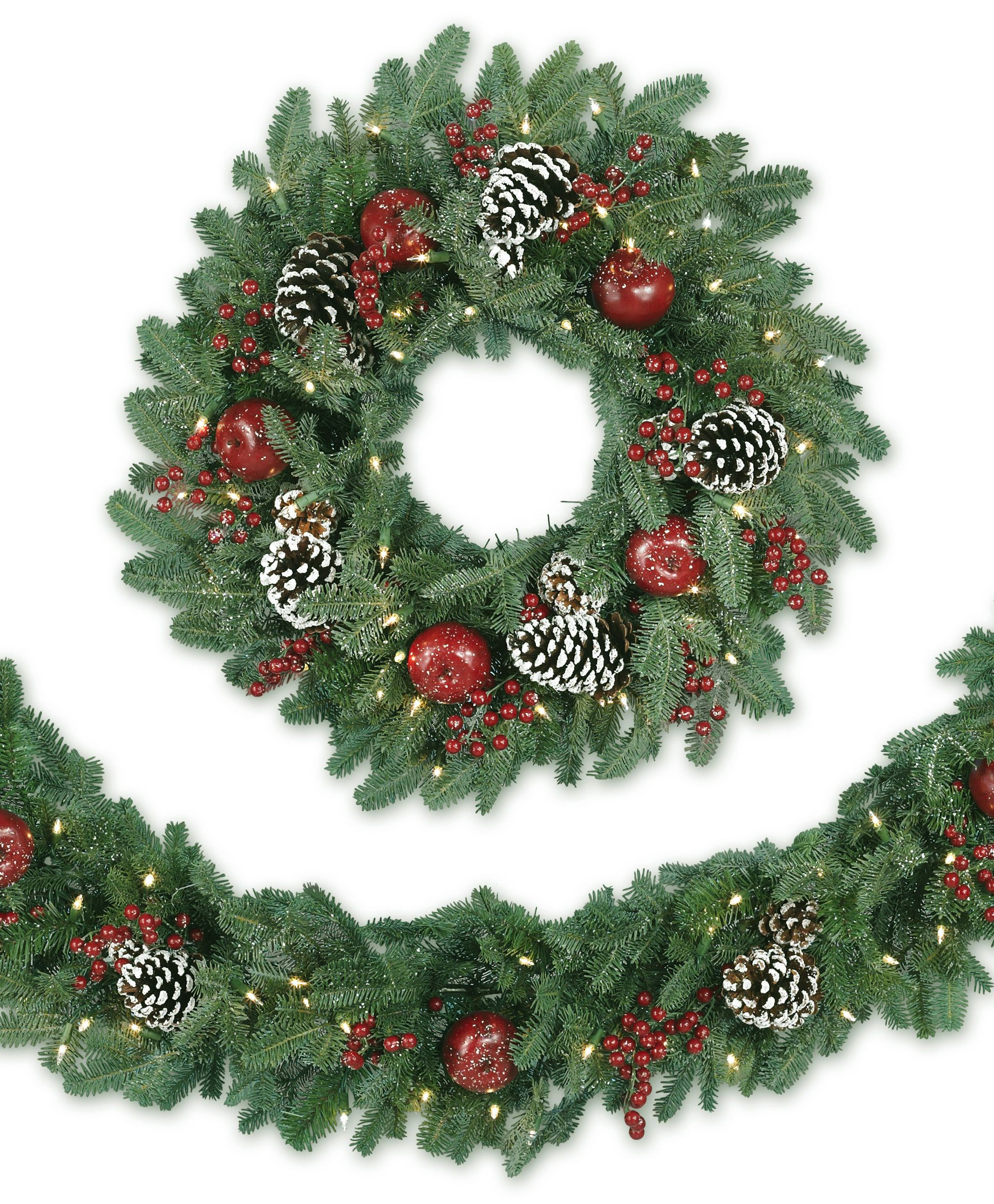 alpine grand fir artificial christmas wreath - Artificial Christmas Wreaths Decorated