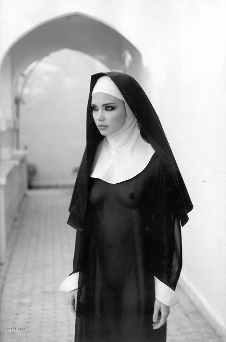 Nun nude drinking with priests can