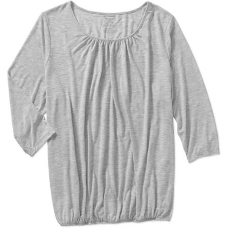 61c5f395859 Faded Glory Women s Plus-Size 3 4 Sleeve Peasant Knit Top - Walmart ...